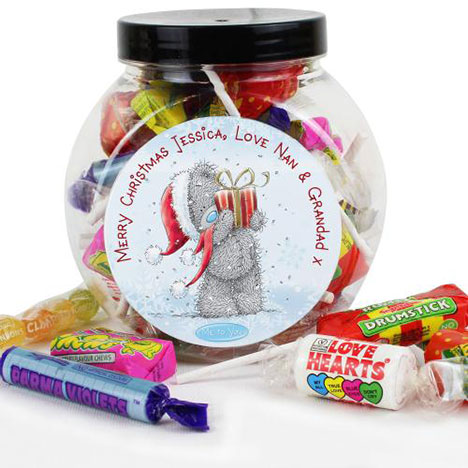 Personalised Me to You Bear Christmas 250g Sweet Jar  £8.99