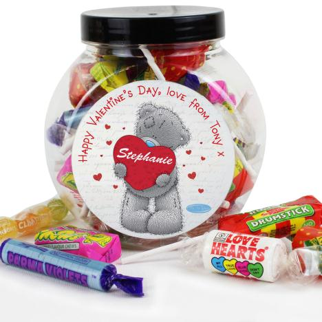 Personalised Me to You Bear Love Heart 250g Sweet Jar  £8.99