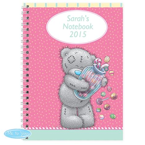 Personalised Me to You Bear Candy Girl A5 Notebook   £7.99