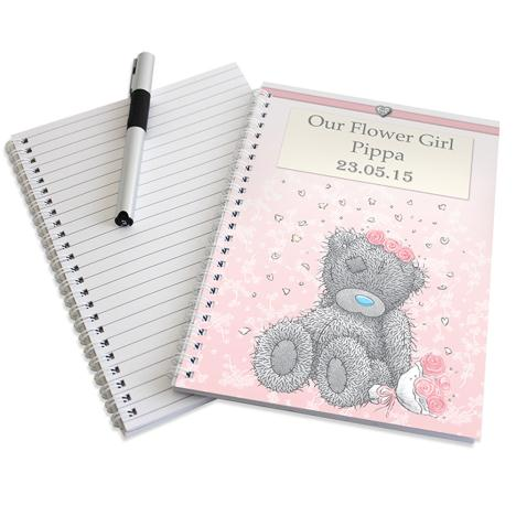Personalised Me to You Flower Girl Bridesmaid Wedding Notebook  £7.99