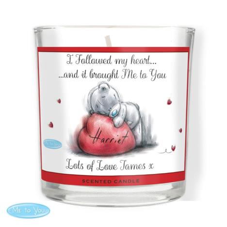 Personalised Me to You Bear Heart Scented Jar Candle  £14.99