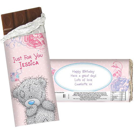 Personalised Me to You Bear 100g  Chocolate Bar  £6.99