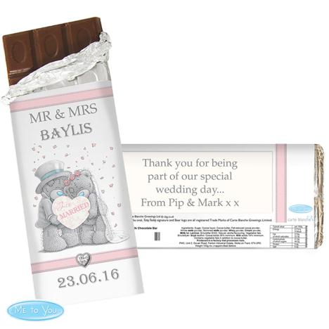 Personalised Me to You Bear Wedding Couple Chocolate Bar  £6.99