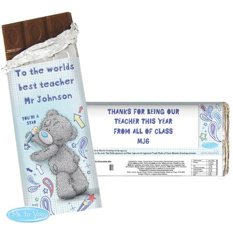 Personalised Me to You Bear Teacher 100g Chocolate Bar   £6.99