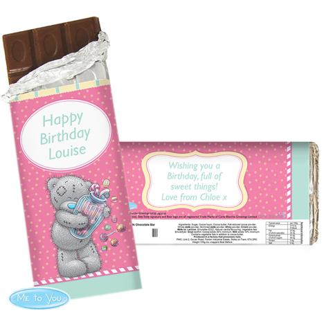 Personalised Me to You Bear Candy Girl 100g Chocolate Bar   £6.99