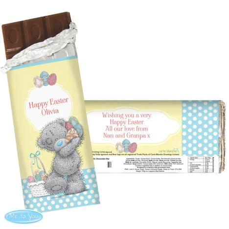 Personalised Me To You Easter 100g Chocolate Bar  £6.99