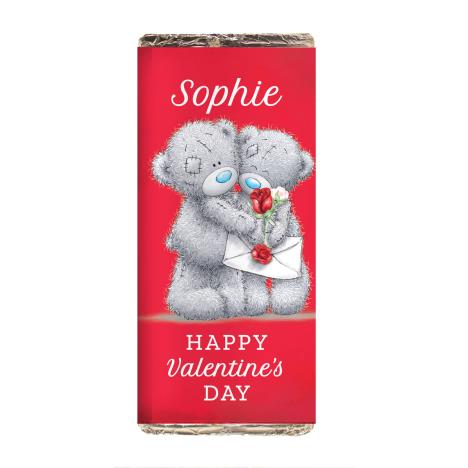 Personalised Me to You Bear Red Roses Milk Chocolate Bar  £6.99