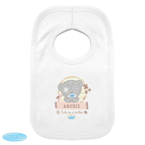 Personalised Tiny Tatty Teddy Baby Bib 0-3 Months  £7.99