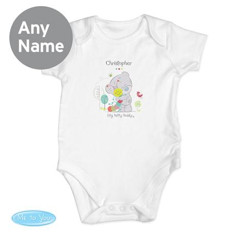 Personalised Tiny Tatty Teddy Cuddle Bug 0-3 Months Baby Vest  £10.99