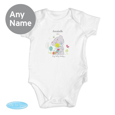 Personalised Tiny Tatty Teddy Cuddle Bug 3-6 Months Baby Vest  £10.99