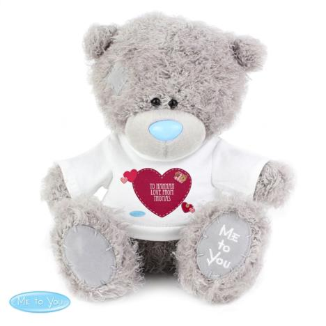 "Personalised 10"" Me to You Bear with Heart T Shirt  £29.99"