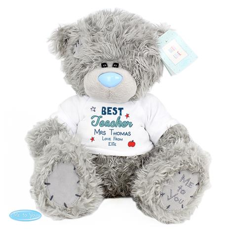 "Personalised 10"" Best Teacher T-Shirt Me to You Bear   £29.99"
