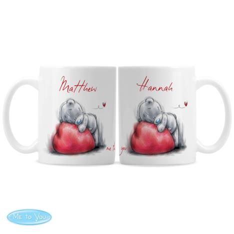 Personalised Me to You Bear His n Hers Heart Mug Set  £18.99