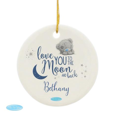 Personalised Love You to the Moon & Back Me to You Decoration  £9.99