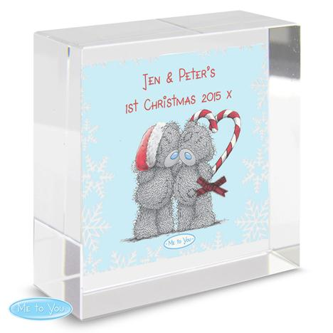 Personalised Me to You Christmas Couple Crystal Block  £16.99