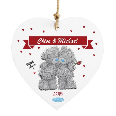Personalised Me to You Wooden Love Heart Couple Plaque  £9.99