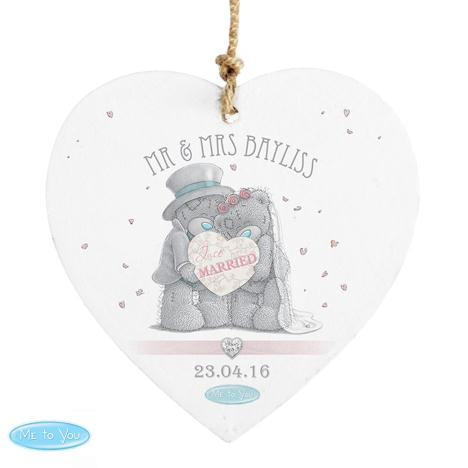 Personalised Me to You Bear Wedding Wooden Heart Plaque  £10.99