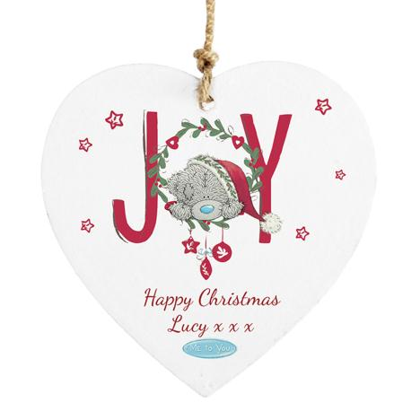Personalised Me To You Christmas Joy Wooden Heart Plaque  £9.99
