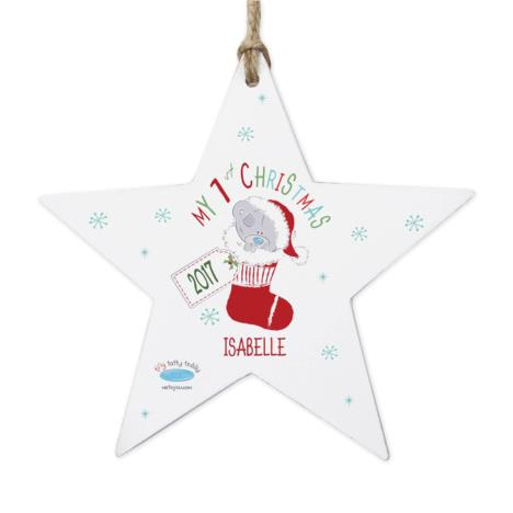 Personalised My 1st Christmas Stocking Star Decoration  £10.99