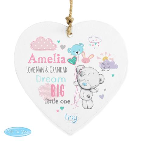 Personalised Tiny Tatty Teddy Dream Big Pink Wooden Decoration  £9.99