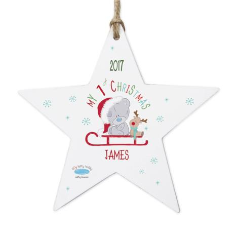 Personalised My 1st Christmas Sleigh Star Decoration  £10.99