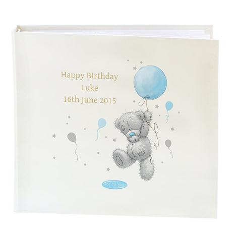 Personalised Me to You Blue Balloon Sleeved Photo Album  £29.99