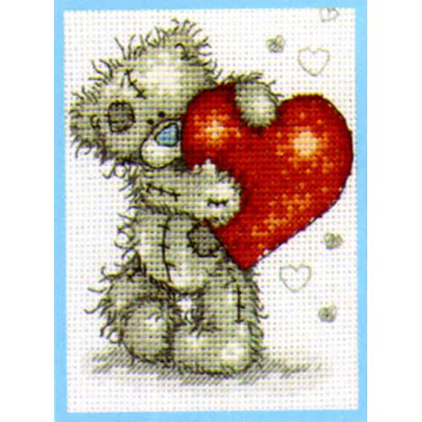 Hearts Me to You Bear Small Cross Stitch Kit   £9.99