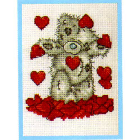 Shower of Hearts Me to You Bear Small Cross Stitch Kit   £9.99