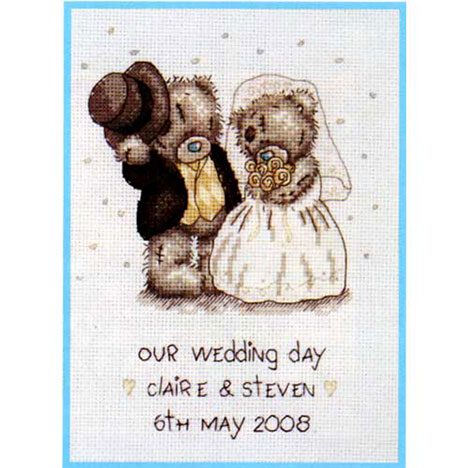 Our Wedding Day Me to You Bear Cross Stitch Kit   £21.99