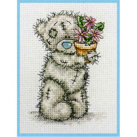 Pink Flower Pot Me to You Bear Small Cross Stitch Kit   £9.99