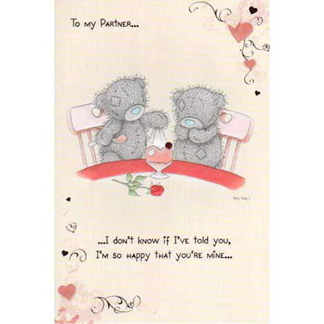 Partner Me to You Bear Valentines Day Card  £3.45