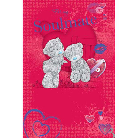 Soulmate Me to You Bear Valentines Day Card  £3.59