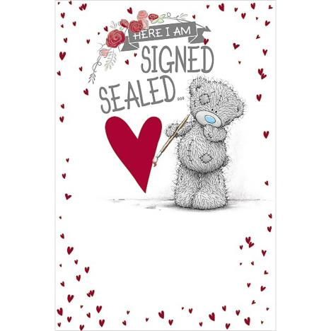 Signed Sealed Delivered Me to You Bear Valentines Day Card  £3.59