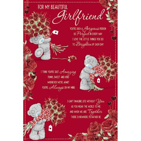 Girlfriend Poem Me to You Bear Valentines Day Card  £3.59