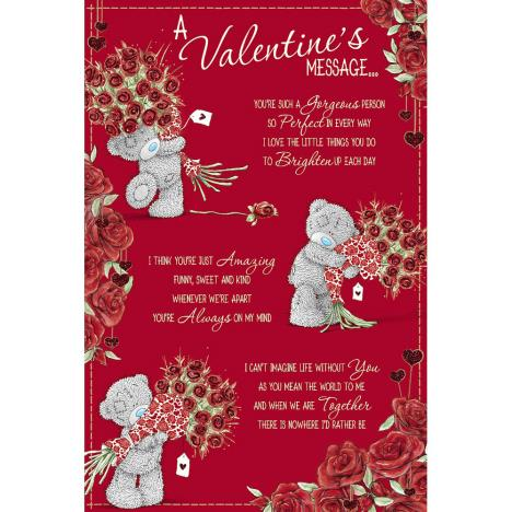 Valentines Message Me to You Bear Valentines Day Card  £2.49