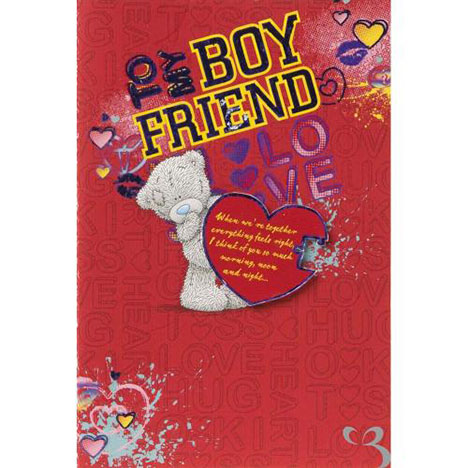 Boyfriend Me to You Bear Valentines Day Card  £4.25