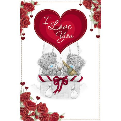 I Love You Me to You Bear Valentines Day Holographic Card  £4.25