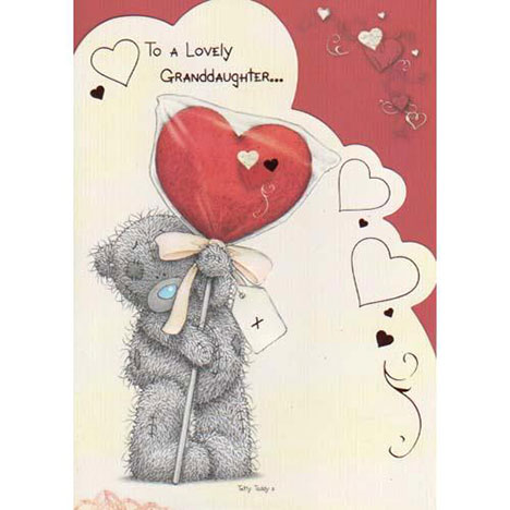 Lovely Granddaughter Me to You Bear Valentines Day Card  £1.80
