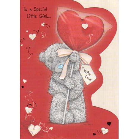 Special Little Girl Me to You Bear Valentines Day Card  £1.80