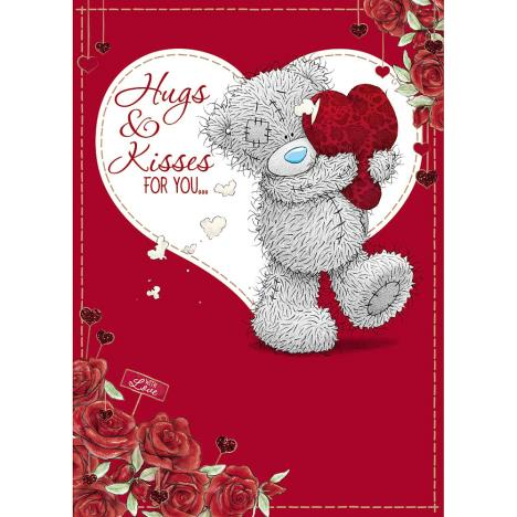 Hugs & Kisses Me to You Bear Valentines Day Card  £1.79