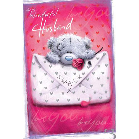 Husband Softy Drawn Me to You bear Valentines Day Card  £2.49