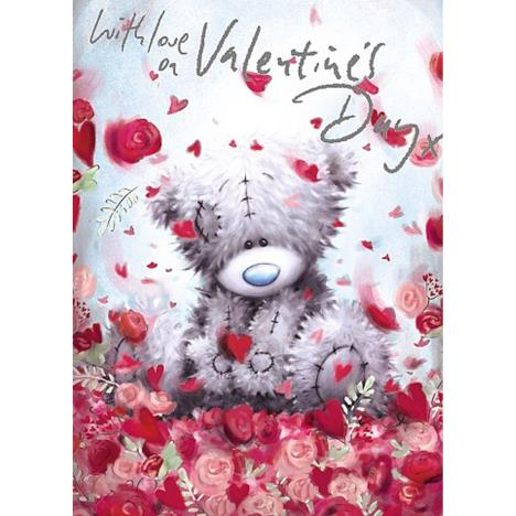 With Love You Me to You Bear Valentines Day Card  £1.79