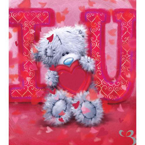 I Love You Softy Drawn Me to You Bear Valentines Day Card  £1.89