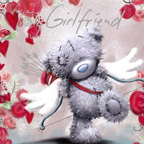Girlfriend Square Me to You Bear Valentines Day Card  £2.09