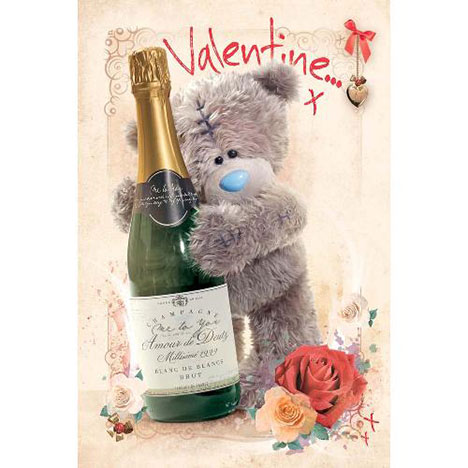 Tatty Teddy Champagne Me to You Bear Valentines Day Card  £2.40