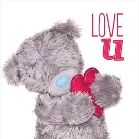 3D Holographic Love U Me to You Bear Valentines Day Card  £2.99