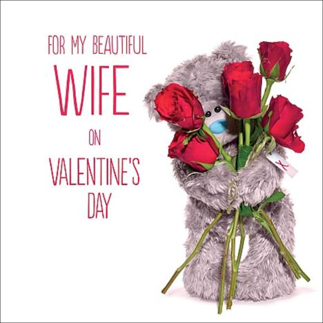 3D Holographic Wife Me to You Bear Valentines Day Card  £2.99
