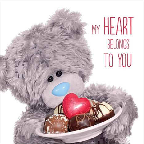 3D Holographic Chocolates Me to You Bear Valentines Day Card  £2.99