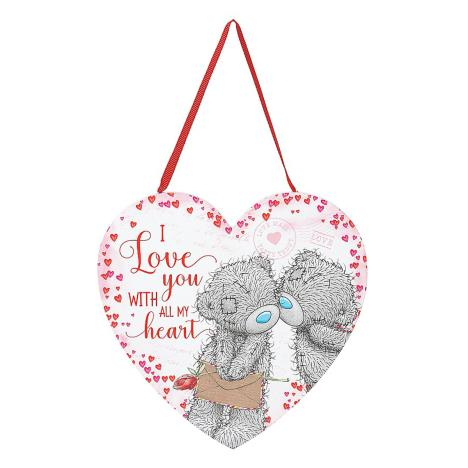 I Love You With All My Heart Me to You Heart Plaque  £3.99