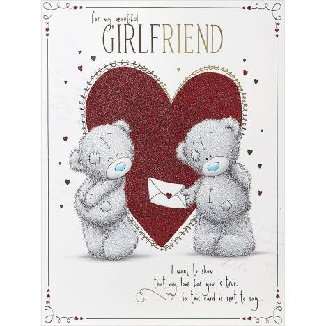 Girlfriend Large Me to You Bear Valentines Day Card  £3.99